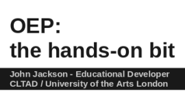 OEP: the hands-on bit