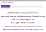 Solstice 2014 at Edge Hill University
